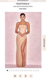 House of CB Formal Evening Dress in Rose Gold