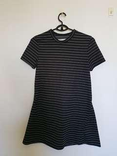 The Editor's Market Black Striped Dress