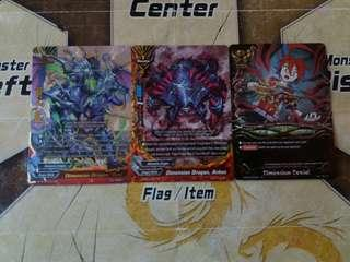 Buddyfight Dimension Dragon And Lost World Cards