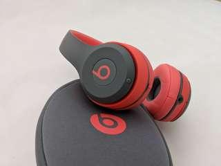 Beats Solo Wireless 2 (Grey and Red, Original)