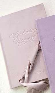 婚禮簽名簿。畢業記念冊 (淡粉紅)