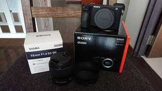 Sony A6500 + Sigma 56mm F1.4 DC DN Bundle