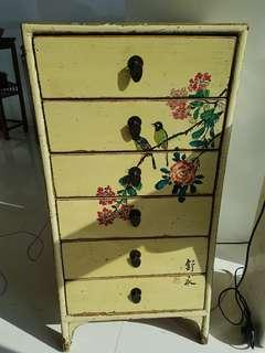 Antique Chinese hand-painted Chest Of Drawers