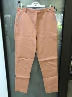 Topshop peach crop pants