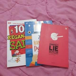Buku 20 Ramuan PsiPop Psikologi, Super Handbook for Perfect Lie Detector In Relationship, 101 Keganjilan Sains