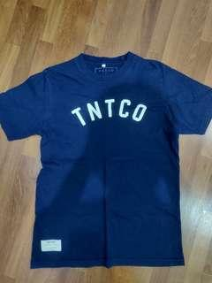 TNTCO blue logo tee
