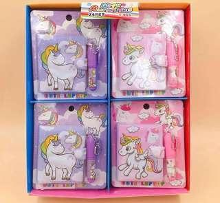 Mini Note book set /Unicorn/Little Pony/Forzen/Pixar Car/ Tsum Tsum/Princess/Spider Man/Birthday Goodie Bag Gift