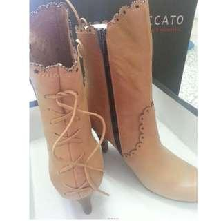 (全新) STACCATO Camel Round High - Calf Boot 靴
