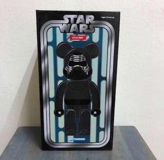 100%全新未開封現貨!Medicom Toy Bearbrick Star Wars星球大戰 Kylo Ren Be@rbrick 400% 不是200% 1000%
