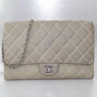 SALES!! Chanel Caviar Grey Clutch/Handbag