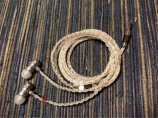 🚚 金銀合金線手工耳機