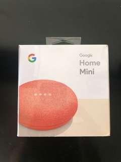 Google Home Mini Brand New (Coral)