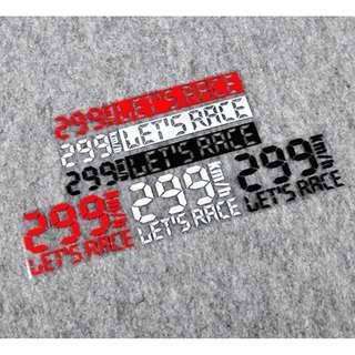Let's race極速299KM/H爆表車貼top speed 汽車重機電動車反光貼 裝飾貼 防水耐溫 貼紙 車貼