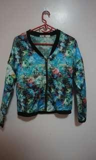 Floral jacket / bomber jacket