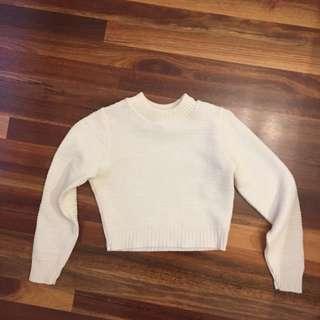 Cream knitted crop