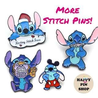 [AVAIL @ Cine] New! Stitch Enamel Pins!