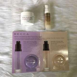 3pcs highend skincare & makeup (set 19)