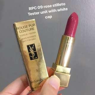 YSL Lipstick Rouge Pur Couture tester 09