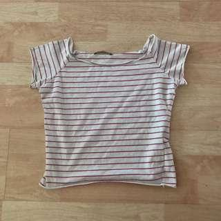 nwot brandy melville rin striped top
