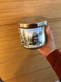 Bath and Body Works 3-Wick Candle Fresh Balsam