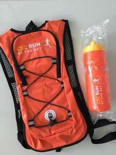 (BN) CSC Run hydration bag and water bottle