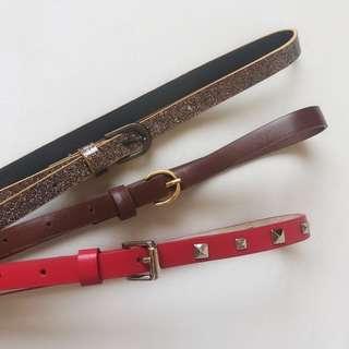 *NEW* 3x Girls belts size 4-6