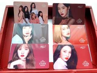 Red Velvet Official Etude Postcard PC