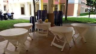 Tables & Stool for Rent