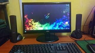 18.5 Inch Widescreen AOC gaming/personal use monitor