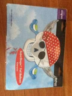 Pirate-themed party supplies and decor