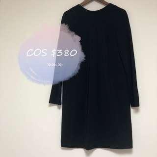 COS black dress 黑色 連身 連衣 裙