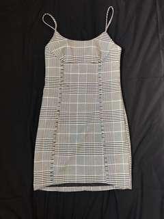 Tartan checkered bodycon dress