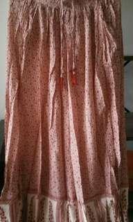 Rok panjang pink cantix