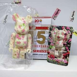 Bearbrick Series 32 Pattern Rose 15th Anniversary figure