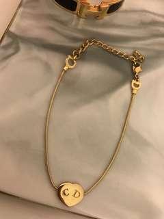 中古 Vintage Christian Dior 金色 CD Logo bracelet