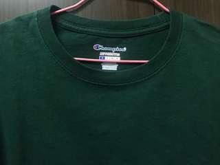 🚚 Champion T425 美版綠色短素T上衣