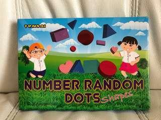 Shichida Number Random Dots Flash Card set