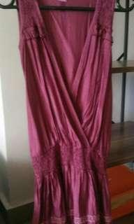 Dress ungu imut