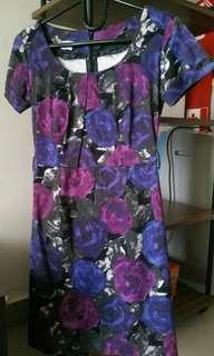 Dress ungu cantik elegant