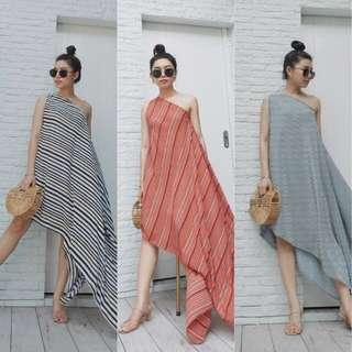 [PO] Tradi Toga Side Dappling Maxi Dress