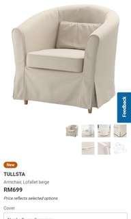 Ikea Tullsta Sofa + Cover and Seat Cushion