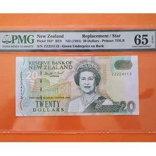 NZ $20 Replacement P183 GEM UNCIRCULATED 65EPQ