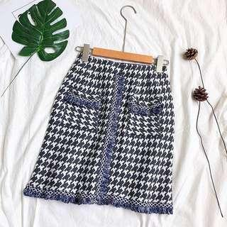 Bohemian Tweed Skirt