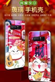 iPhone /三星/OPPO/vivo/華為 /小米 手機系列♥新年  可愛 招財貓創意 升級9D  鋼化玻璃 手機殼