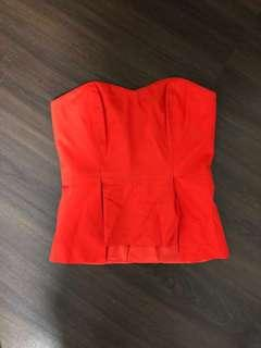 MDS Red Huat Tube Top