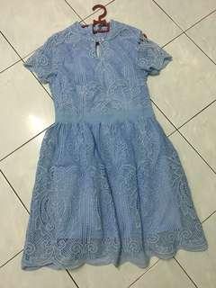 Oriental blue dress