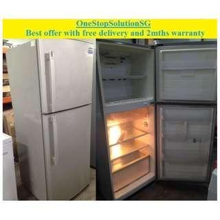 Samsung (354L), 2doors big refrigerator / fridge ($280 + free delivery & 2mths warranty)