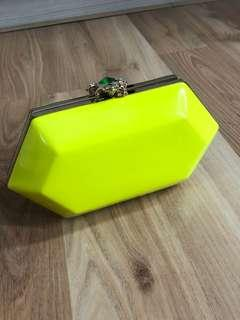Aldo yellow clutch