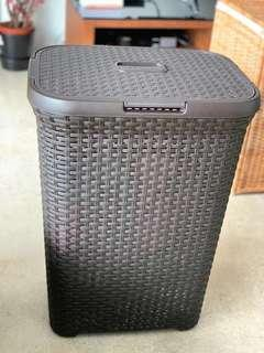 Curved Ratten style laundry basket