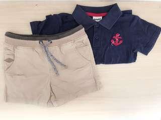 Boys top + shorts size 2